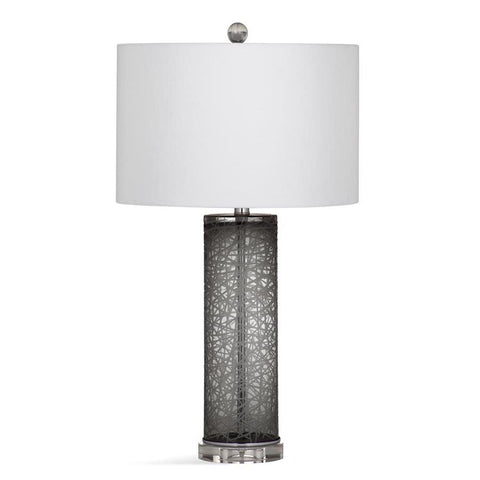 Basset Mirror Glass Danbury Table Lamp in Grey/Clear