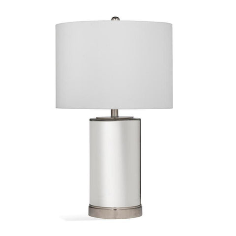 Basset Mirror Glass Larisa Table Lamp in Mercury w/Chrome