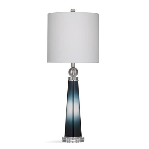 Basset Mirror Glass Leona Table Lamp in Blue