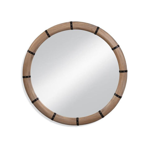 Basset Mirror Huntley Wall Mirror in Natural Wood