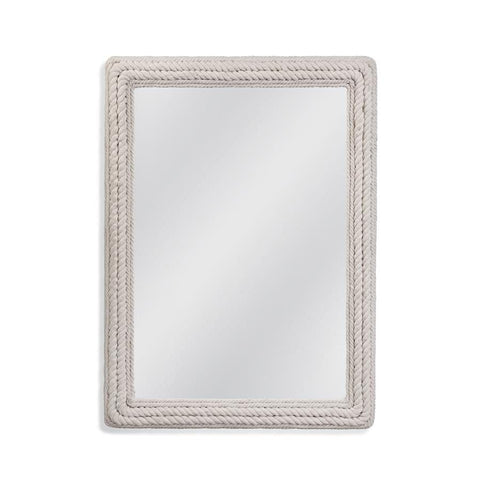 Basset Mirror Juno Wall Mirror in White Rope