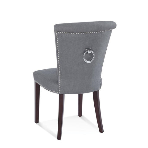 Basset Mirror Mercer Parsons Chair in Charcoal/Dark Espresso