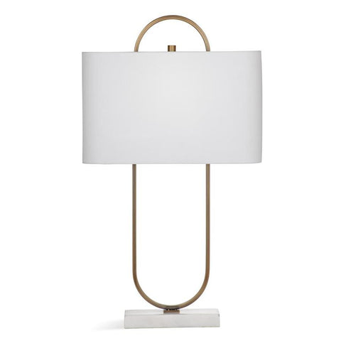 Basset Mirror Metal Mabel Table Lamp in Brass
