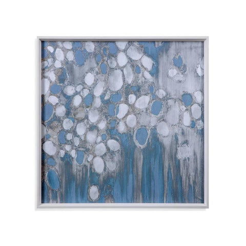 Basset Mirror Oyster Shells in Blue/White