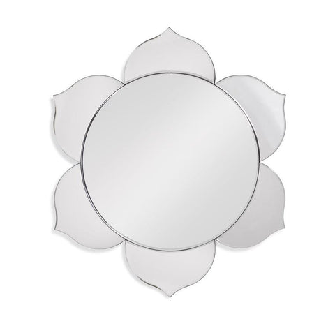 Basset Mirror Petals Wall Mirror in Clear Mirror