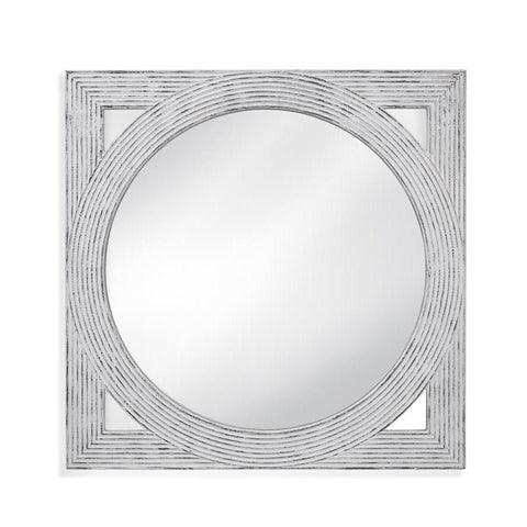 Basset Mirror Rani Wall Mirror in Distressed White