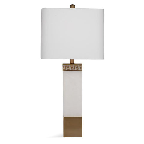 Basset Mirror Stone Calusa Table Lamp in Alabaster