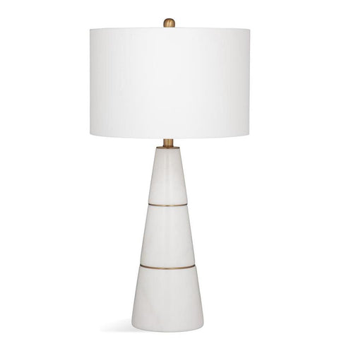 Basset Mirror Stone Pilar Table Lamp in Marble