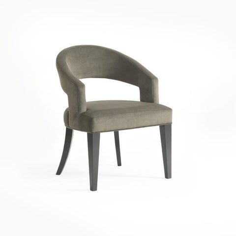 Basset Mirror Symmetry Arm Chair in Dark Espresso
