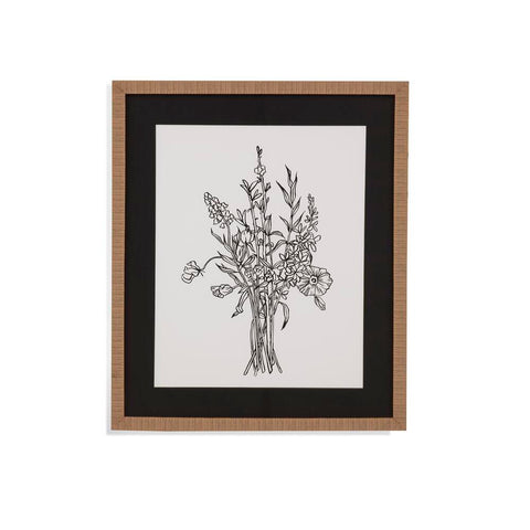 Bassett Black & White Bouquet IV Framed Art