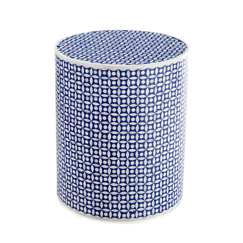 Bassett Blue Bone Side Table