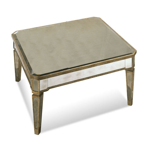 Bassett 8311-130 Borghese Mirrored Square Cocktail Table