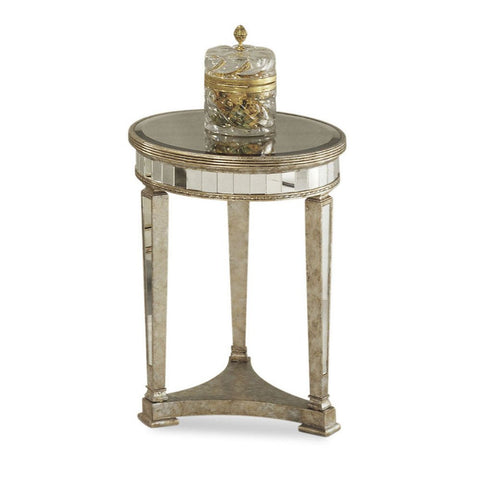 Bassett 8311-220 Borghese Mirrored Round End Table