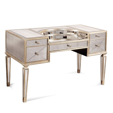 Bassett 8311-579 Borghese Mirrored Vanity Desk