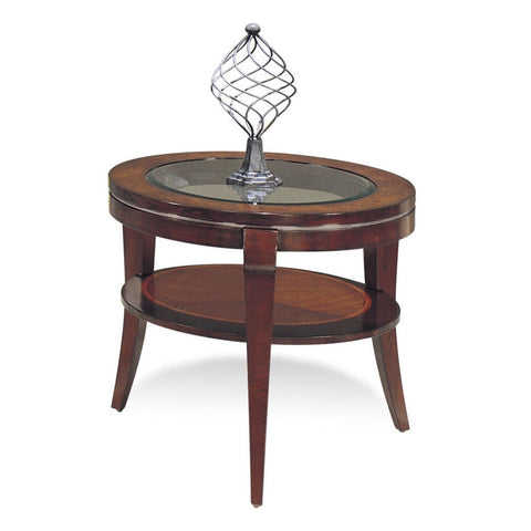 Bassett 8436-220 Ashland Heights Round End Table w/ Glass Inset