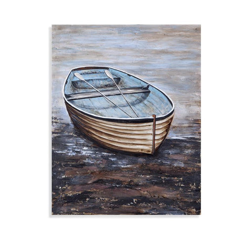 Bassett Mirror Blue Skiff Canvas Art