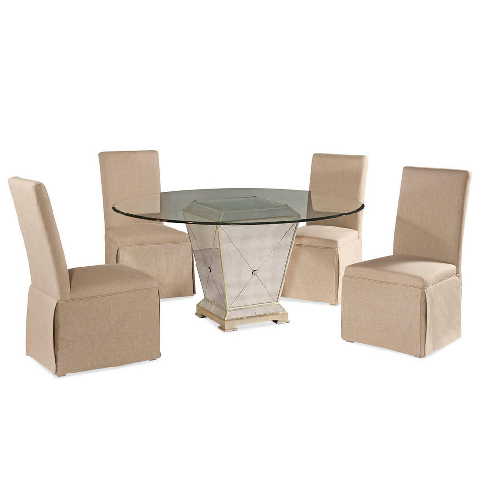 Amazing Bassett Borghese Double Pedestal 5 Piece Dining Set W Pdpeps Interior Chair Design Pdpepsorg