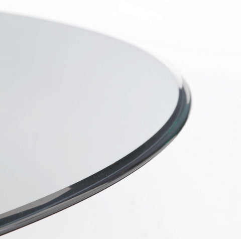 Delicieux Bassett Carnaby 54 Inch Round Glass Top Dining Table