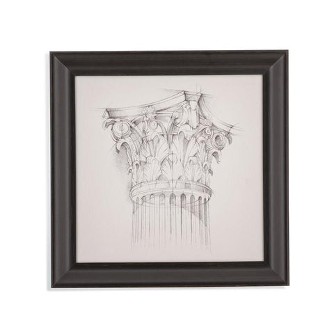 Bassett Mirror Column Schematic IV Framed Art