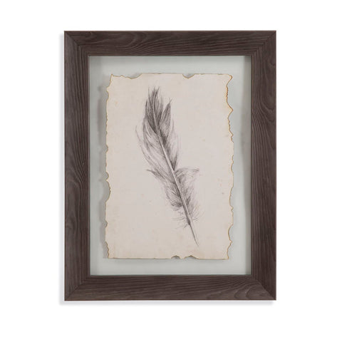 Bassett Mirror Company Feather Sketch IV