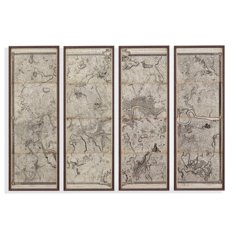 Bassett Mirror Company Map of London Panels