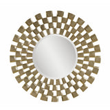 Bassett Contempo Chequers Wall Mirror in Silver Leaf