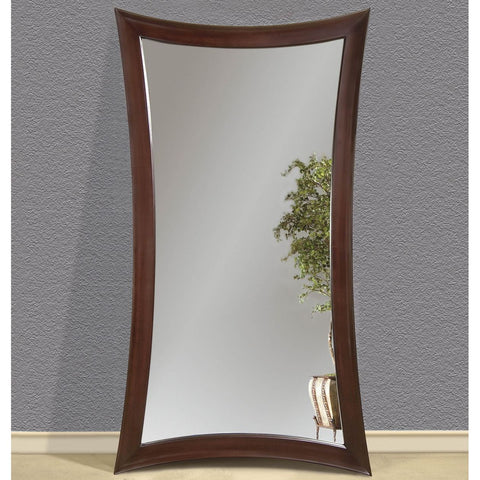 Bassett Contempo Hour-Glass Merlot Leaner Mirror