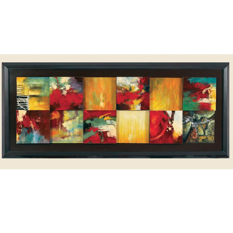 Bassett Contempo Red Abstract Canvas Art