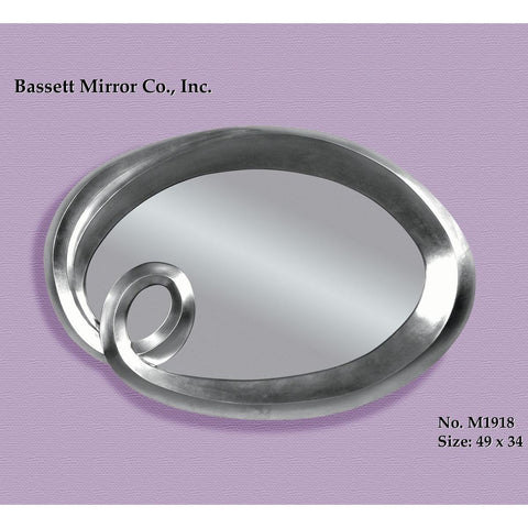 Bassett Contempo Sigourney Decorative Wall Mirror in Silver Leaf