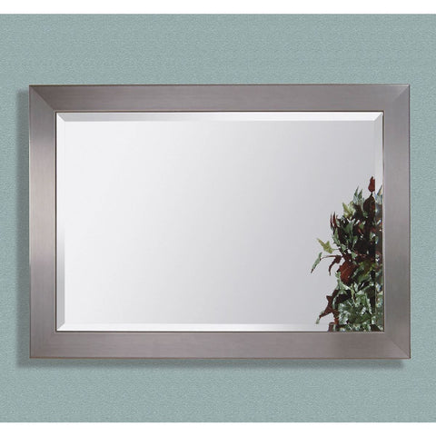 Bassett Contempo Stainless Wall Mirror in Brushed Chrome