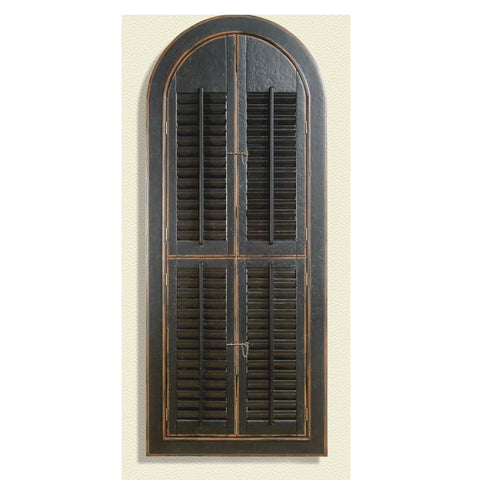 Bassett Easy Living Arched Shutter Mirror in Rusticated Black