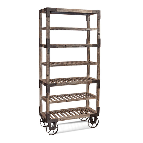 Bassett Easy Living Foundry Rack in Weathered Gray