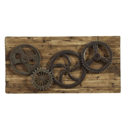 Bassett Easy Living Industrial Gear Era Wall Art