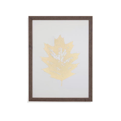 Bassett Mirror Gold Foil Leaf I Framed Art
