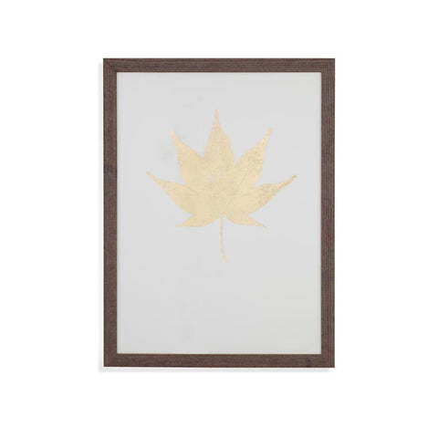 Bassett Mirror Gold Foil Leaf II Framed Art