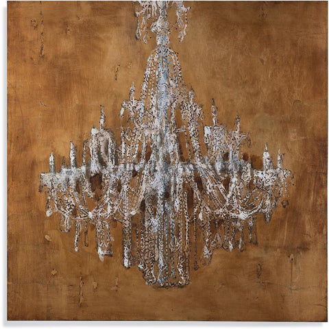 Bassett Mirror Golden Chandelier Canvas Art