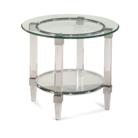 Bassett Hollywood Glam Cristal Round End Table