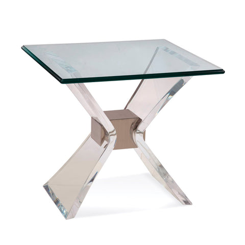 Bassett Hollywood Glam Silven Rectangle End Table