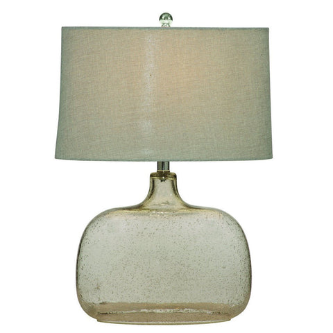 Bassett L2491T Portman Table Lamp in Clear Seeded Glass