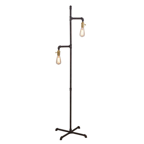 Bassett Lamps Telestar Floor Lamp in Rusty Textured Finish KD