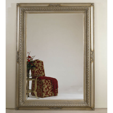 Bassett Old World Castello Leaner Mirror in Antique Silver