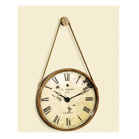 Bassett Old World Watchman Wall Clock in Burnished Gold
