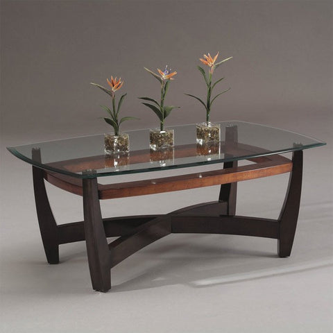 Bassett T1078-100/411 Elation Rectangular Cocktail Table