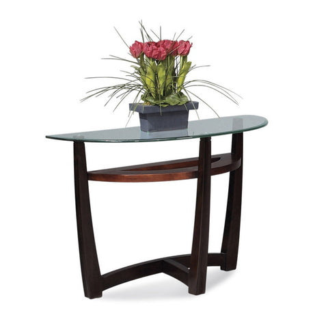 Bassett T1078-400/087 Elation Half-Moon Glass Top Console Table