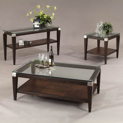 Bassett T1171 Dunhill Rectangular 3 Piece Coffee Table Set