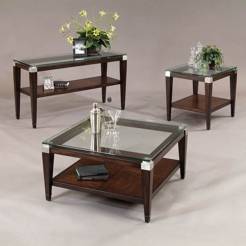 Bassett T1171 Dunhill Square 3 Piece Coffee Table Set
