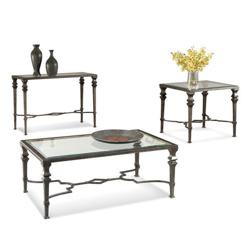 Bassett T1210 Lido Rectangular 3 Piece Coffeee Table Set