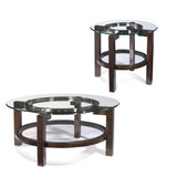 Bassett T1705-120 Oslo Round Glass Top Cocktail Table