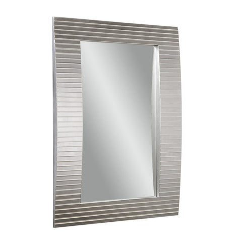 Bassett Tambour Wall Mirror in Clear Beveled Mirror