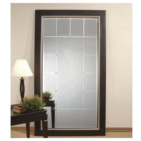 Bassett Transitions Fiona Leaner Mirror in Black and Silver